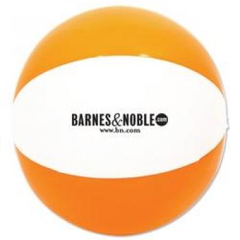 Customized Beach Ball 12 Inch - Orange / White