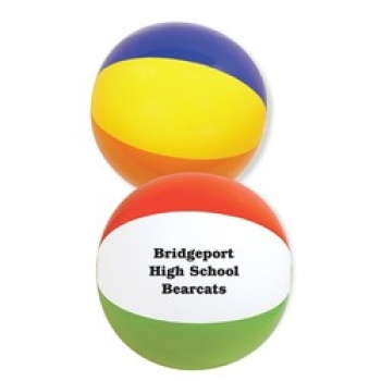 Customized 16 Inch Multi-Colored Beach Ball