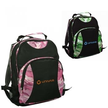 Promotional Logo Kids Camo Double Backpacks
