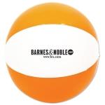 "Customized Two Color 12"" Beach Ball - Orange/White"