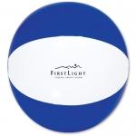 "Personalized 16"" Beach Ball - Blue/ White"