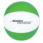 "Personalized 6"" Beach Ball - Green & White"