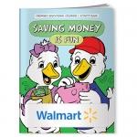 Custom Imprinted Coloring Books - Saving Money is Fun