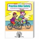Custom Imprinted Practice Bike Safety Coloring Book