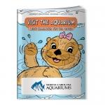 Custom Printed Coloring Books - Visit the Aquarium with Samantha the Sea Otter