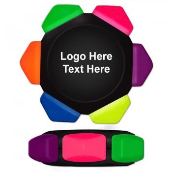 Promotional Crayo-Craze Neon Six Color Crayon Wheels - Full Color