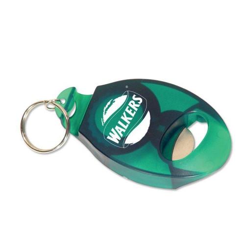 Customized Tab Popper Bottle Opener Keychain Green