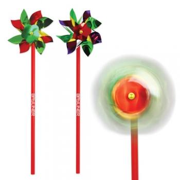 Promotional Logo 4 Inch Rainbow Pinwheels
