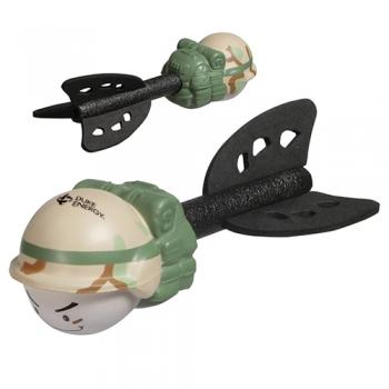 Promotional Logo Fun Flinger Military Toys