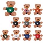 Custom Imprinted 6 Inch Sitting Plush Bear with Shirts