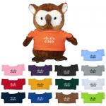 Custom Imprinted 8.5 Inch Hoot Owl Plush Toys with Shirt