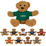 Custom Imprinted 8 Inch Plush Rag Bears with Shirt