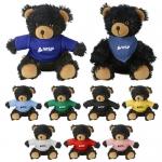 Custom Imprinted Cuddliez Black Bear Plush Toys
