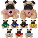 Custom Imprinted Cuddliez Pug Plush Toys