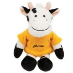 Custom Imprinted Mascot Plush Cows