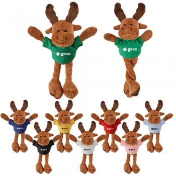 Custom Imprinted Pulley Pets Moose Plush Toys