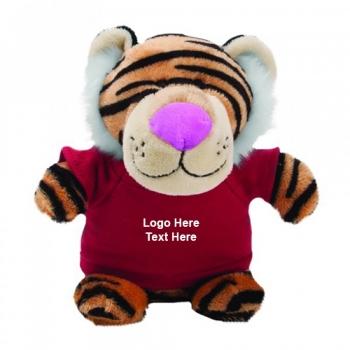 Custom Imprinted Tiger Bean Bag Buddies