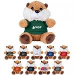 Custom Printed 6 Inch Plush Beavers with Shirt