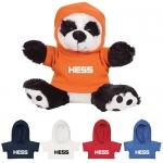 Custom Printed 8.5 Inch Big Paw Pandas Plush Toys with Hoodie