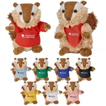 Custom Printed Cuddliez Chipmunk Plush Toys