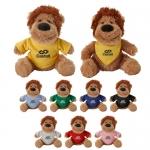 Custom Printed Fuzzy Friends Lion Plush Toys