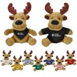 Custom Printed Fuzzy Friends Moose Plush Toys