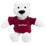 Custom Printed Mascot Plush Polar Bears
