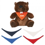 Personalized 6 Inch Bucky Beaver Plush Toys with Bandana