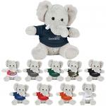 Personalized 6 Inch Plush Elephant with Shirts