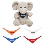 Promotional Logo 8.5 Inch Excellent Elephant Plush Toys with Bandana