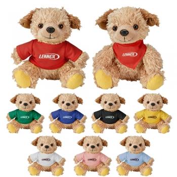 Promotional Logo Cuddliez Dog Plush Toys
