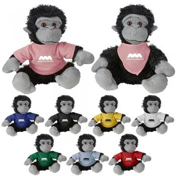 Promotional Logo Cuddliez Gorilla Plush Toys
