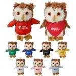 Promotional Logo Cuddliez Owl Plush Toys