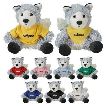 Promotional Logo Cuddliez Wolf Plush Toys
