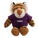 Promotional Logo Mascot Plush Tiger Toys