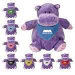 Promotional Playful Pals Hippo Plush Toys with Bandanas
