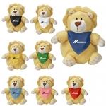 Promotional Playful Pals Lion Plush Toys with Bandanas