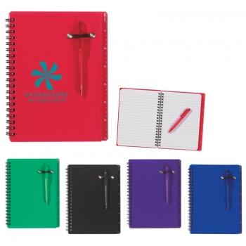 5 X 7 Inch Customized Spiral Notebooks & Pen