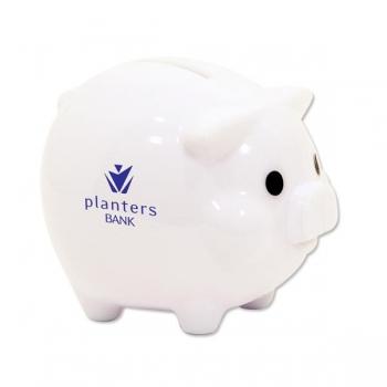 Customized Classic Piggy Bank - White