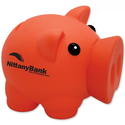 Personalized Colored Piggy Bank Orange