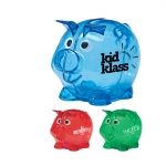Custom Imprinted Mini Plastic Piggy Banks