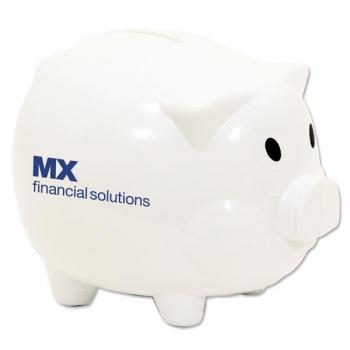 Personalized Smash It Piggy Bank - White