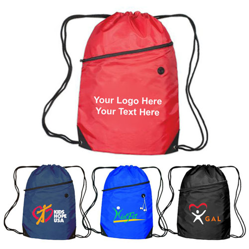 Customized Luna Drawstring Backpacks