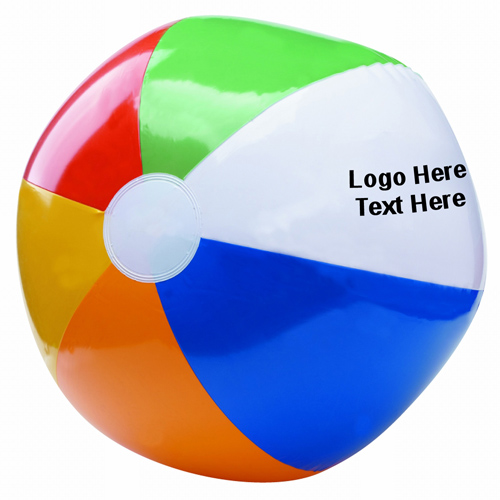 16 Inch Custom Printed Six Color Beach Balls