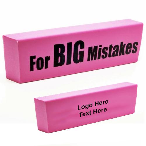 Custom Imprinted Big Mistake Eraser
