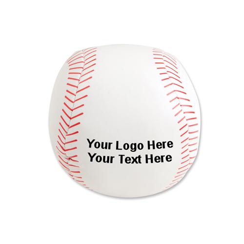 4 Inch Logo Imprinted Plush Baseballs