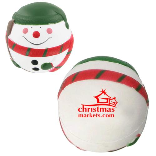 Promotional Snowman Stress Balls