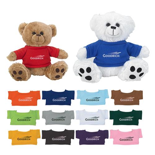 e9ee975a8f5 8.5 Inch Personalized Big Paw Bear with Shirt - Stuffed   Plush Animals -  Fun