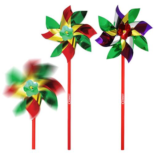 Custom Imprinted 6 Inch Rainbow Pinwheels