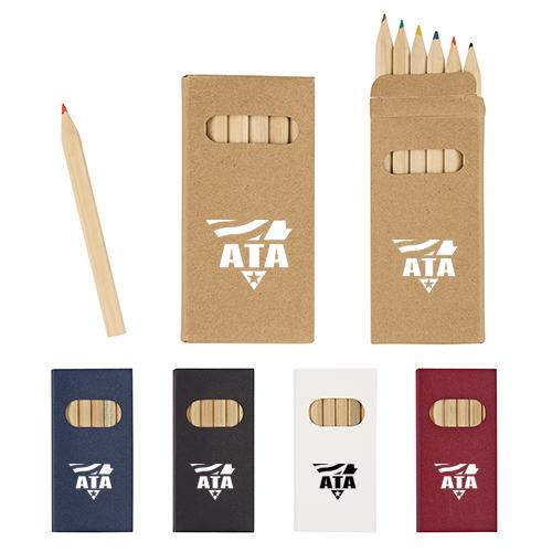 Promotional Logo 6 Piece Colored Pencil Sets
